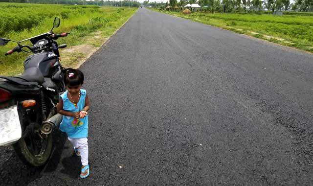 দৃশ্যমান হলো জামালপুর-বকশীগঞ্জ-রৌমারী মহাসড়ক
