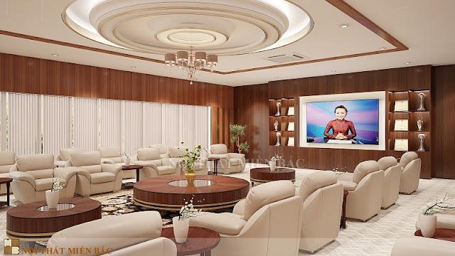 Những bộ ghế sofa bọc da cao cấp như mang đến vẻ đẹp cuốn hút và ấn tượng nhất cho không gian thiết kế nội thất khánh tiết cao cấp