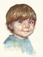 girl watercolor portrait