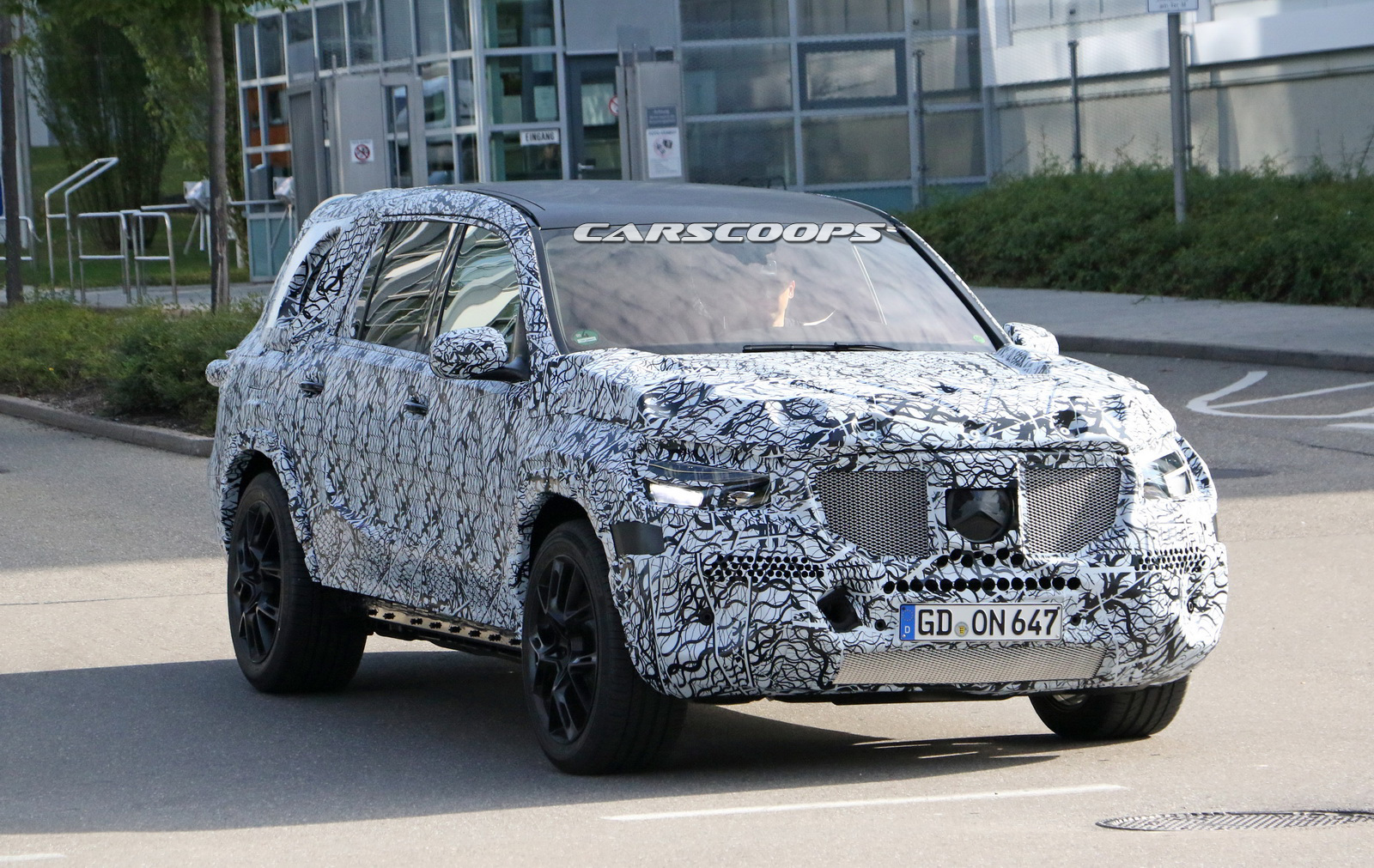 2019 Mercedes Gls Makes Its Spy Debut Under Heavy Cladding