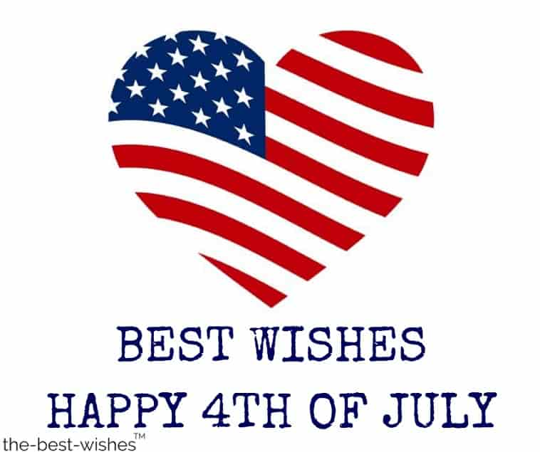 happy july 4th best wishes