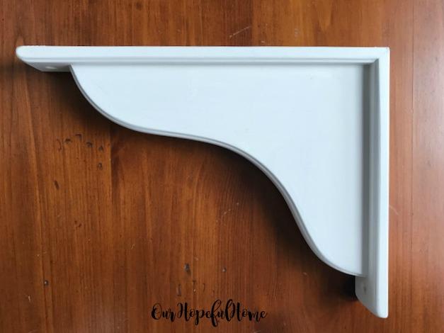 "Ikea  Hensvik white 7"" reversible corbel"