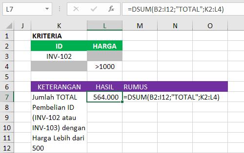 Logika OR Pada Kriteria Rumus Database