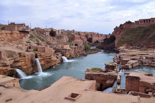 Ancient watermills of Shushtar in Khuzestan.