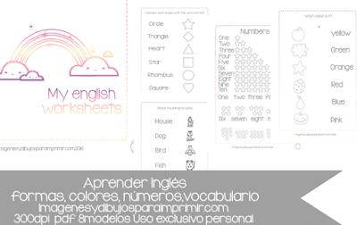 ejercicios de inglés para niños