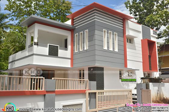 Finishing cost ₹32 lakhs contemporary Kerala home design