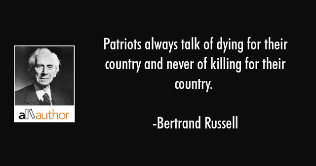 Bertrand Russell Against Patriotism
