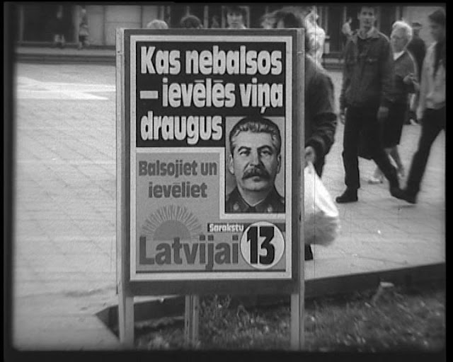 post-soviet ad, stalin, election adverstisement, latvija, latvia