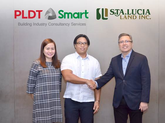 PLDT Smart Sta. Lucia Land partnership