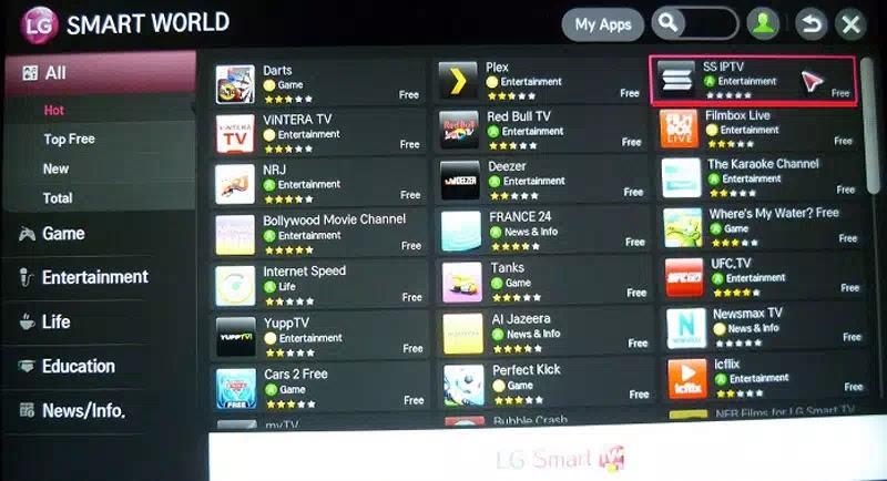 تحميل وتفعيل برنامج ss iptv على شاشة LG - سوق سات