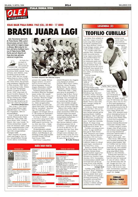 WORLD CUP 1962 CHILE FLASHBACK BRASIL CHAMPION
