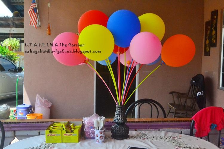 Lya Afrina D I Y Simple Budget Birthday Backdrop Tips Mengadakan Sambutan Hari Lahir