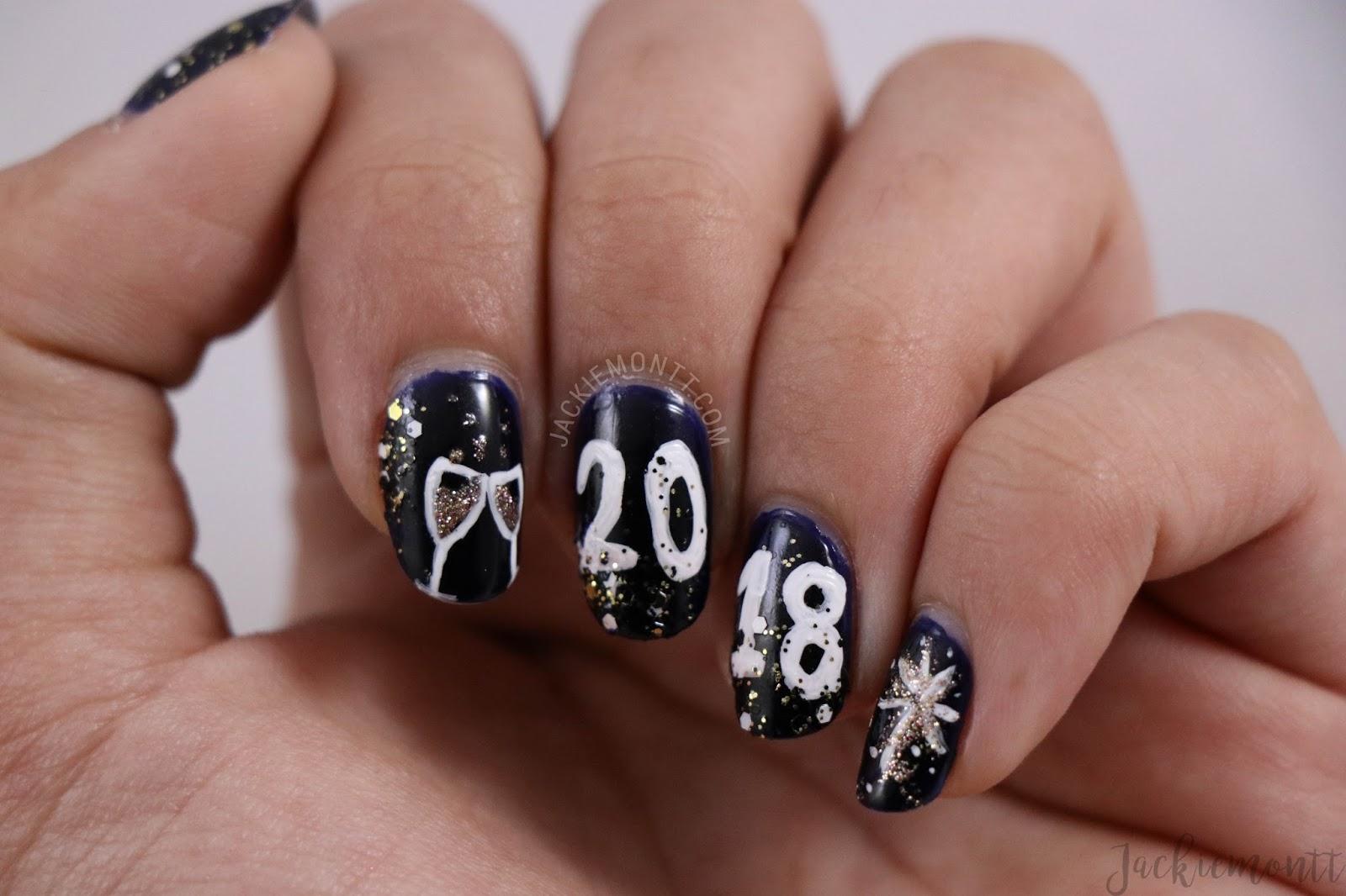 New Year\'s Eve Nail Art 🍾 - JACKIEMONTT