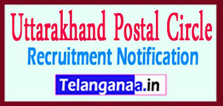 Uttarakhand Postal Circle Recruitment Notification 2017 Last Date 18-05-2017