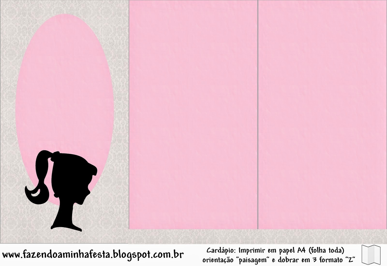 Barbie Silhouette Free Party Printables Images And Papers Oh