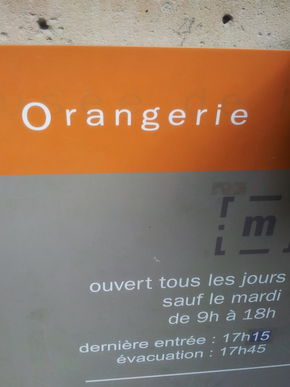 Orangerie museum sign, Paris