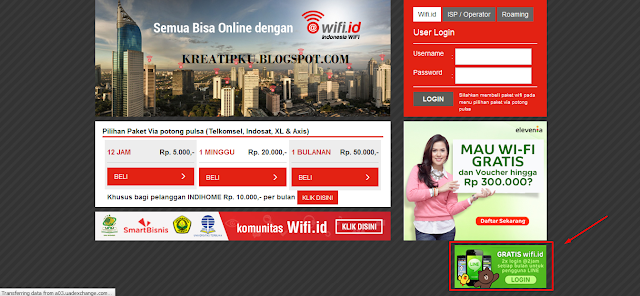 wifi id gratis  Menggunakan Line