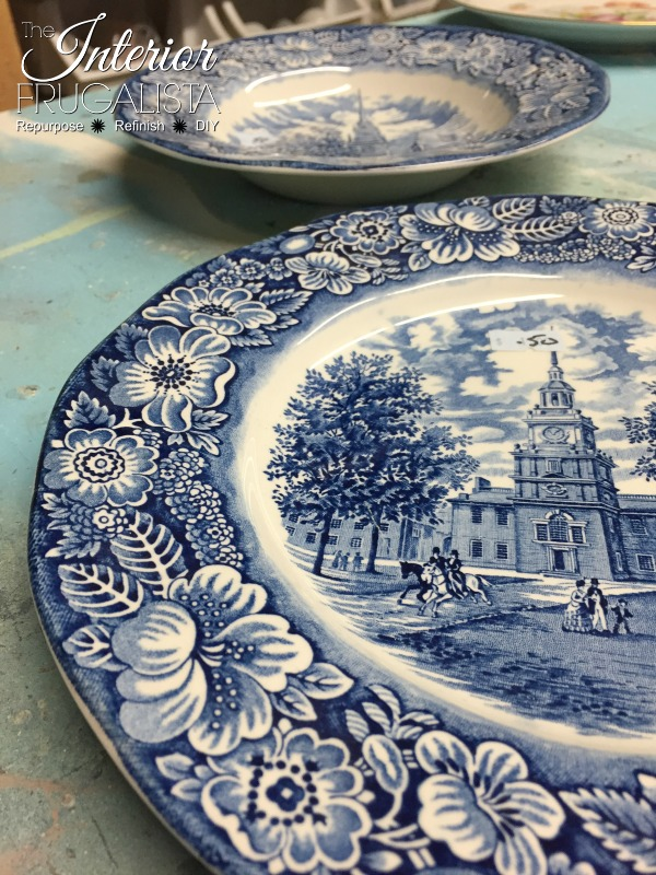 Thrift store Liberty Blue Ironstone dishes