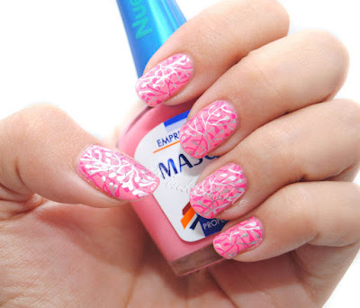 manicura semanal nail art double stamping