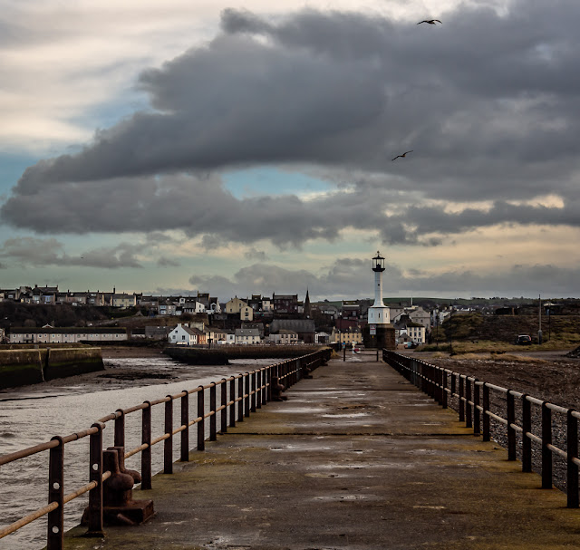 Photo looking back at Maryport from south pier