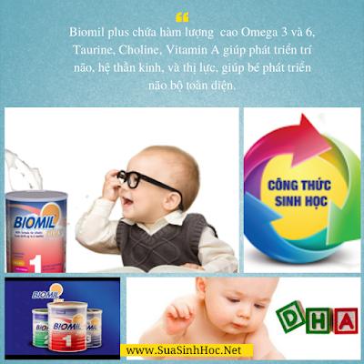Biomil bổ sung DHA giúp bé phát triển não bộ toàn diện