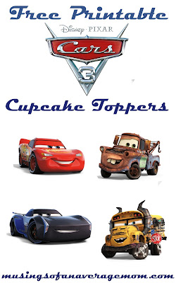 Cars 3 cupcake toppers