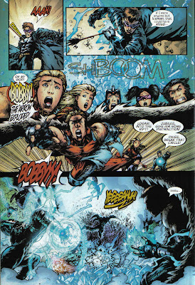 I don't know why Wolvie is doing a CSI-style 'Yeeeeah!' in that last panel.