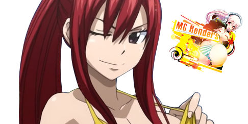 Fairy Tail - Erza Scarlet Render 18 Ecchi Bikini - Anime - PNG Image without background