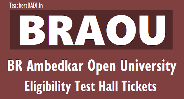 braou br ambedkar open university eligibility test hall tickets 2019, braou eligibility test hall tickets 2019,braou entrance test hall tickets,braou distance degree entrance test