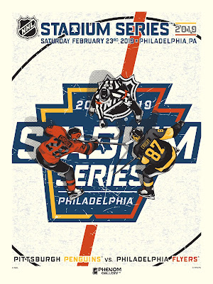 "NHL Stadium Series 2019 ""Penguins vs Flyers"" Screen Print by M. Fitz x Phenom Gallery"