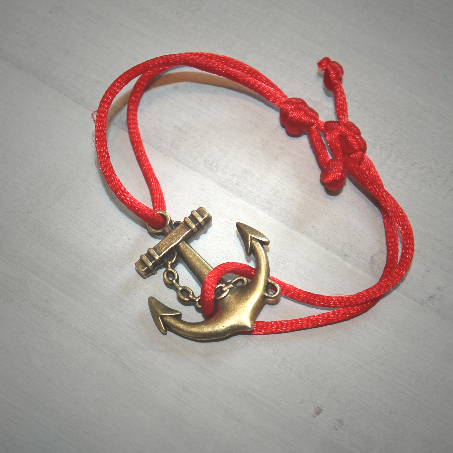 Slip Knot Nautical Anchor Bracelet
