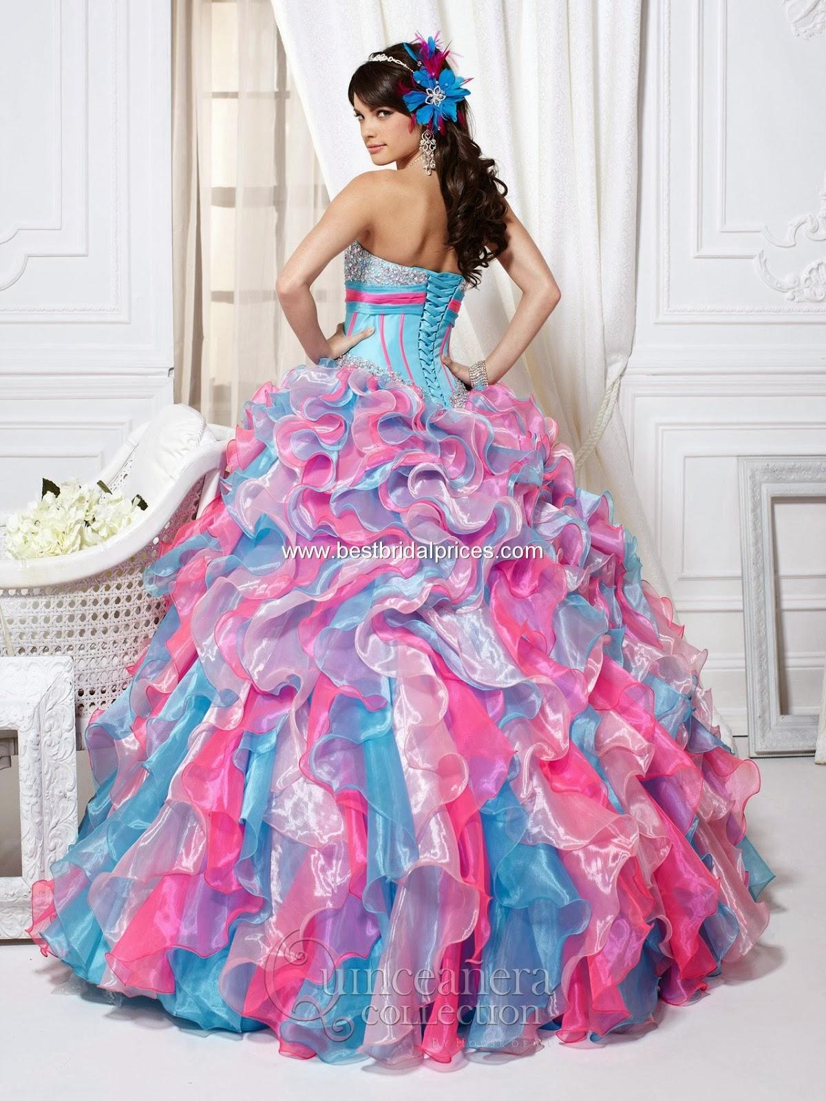 Lujoso Vestido De Fiesta De Arco Iris Regalo - Colección del Vestido ...