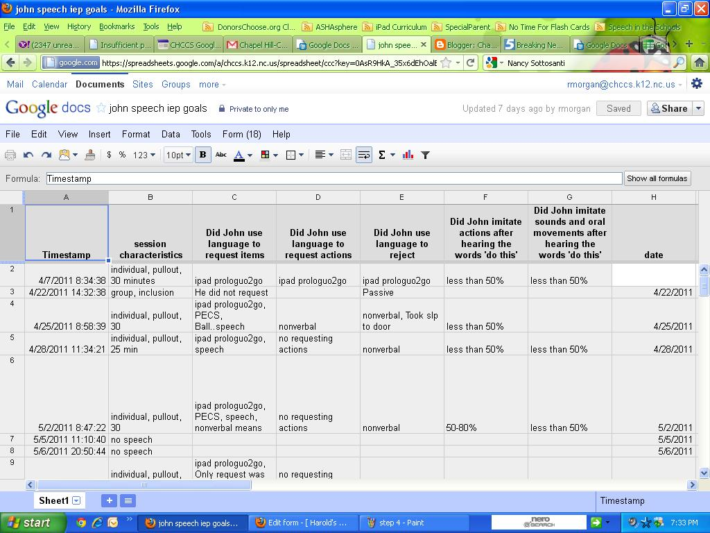 google forms and spreadsheets fun times with data collection