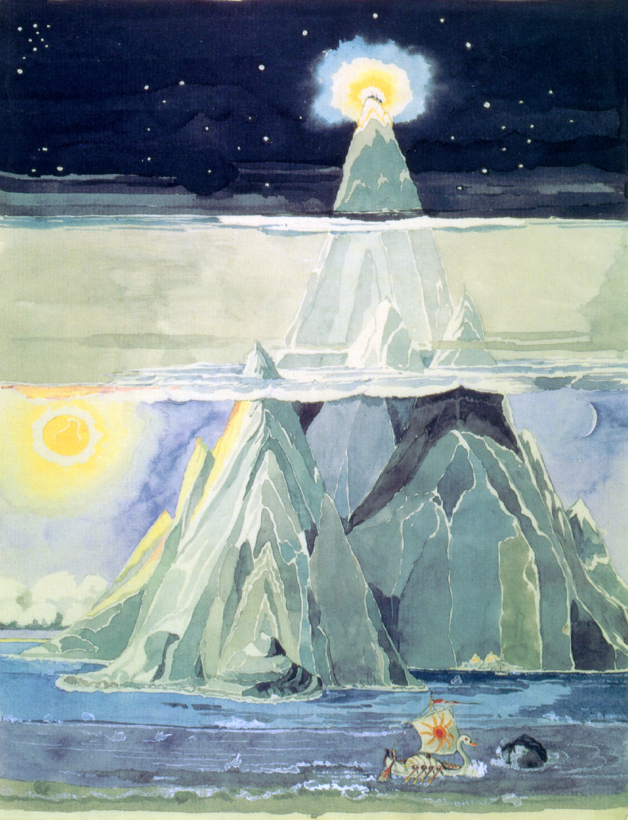 Halls of Manwe. Illustration byJ.R.R. Tolkien