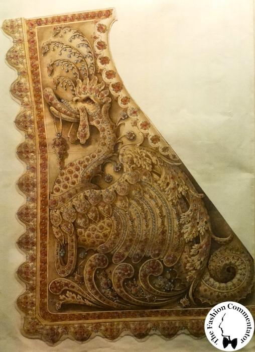 Mostra Jacopo Ligozzi Firenze - Studio per gualdrappa da sella ricamata e ornata di pietre preziose, 1616
