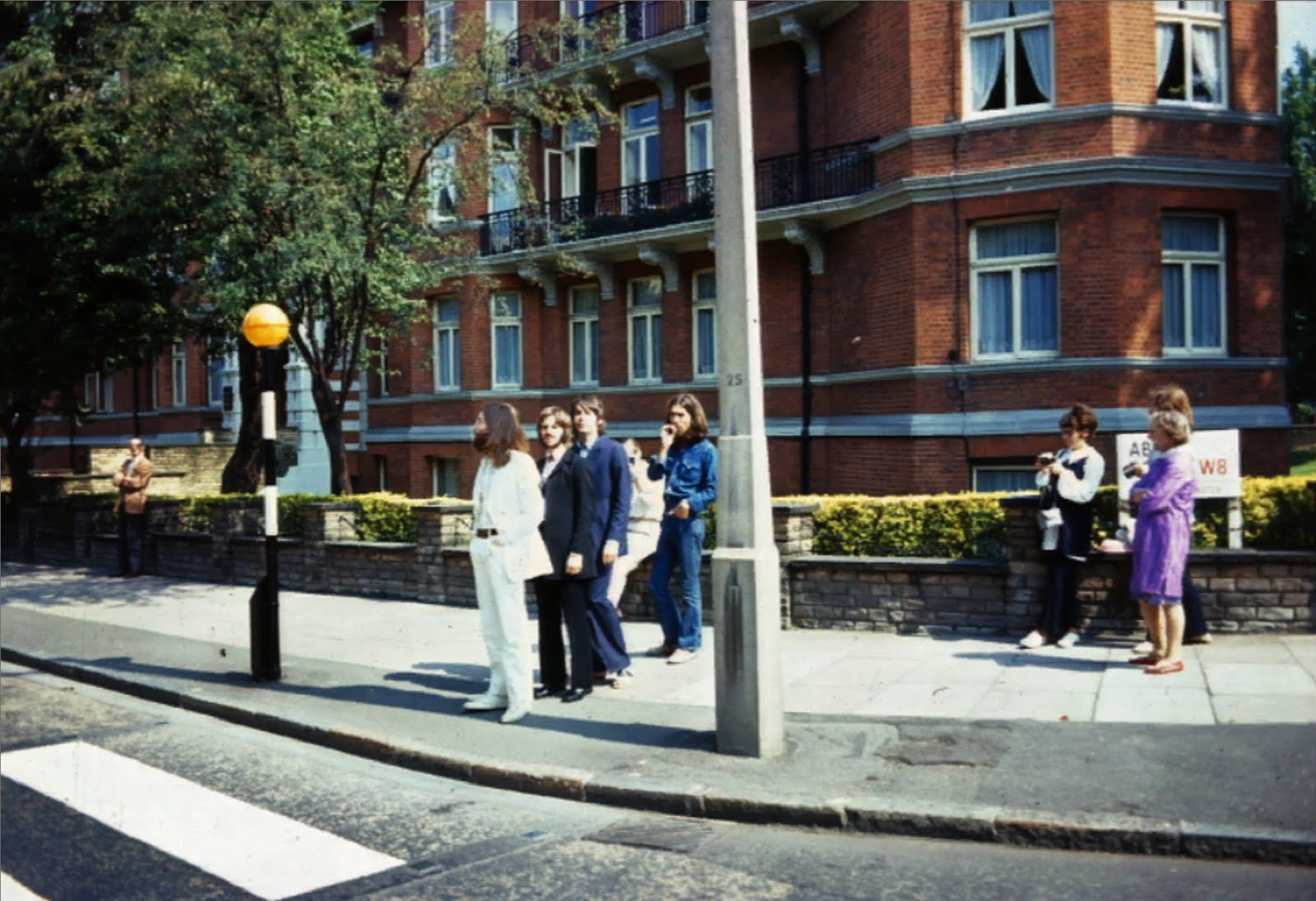 The Beatles On That Same Side Of Abbey Road 8 August 1969