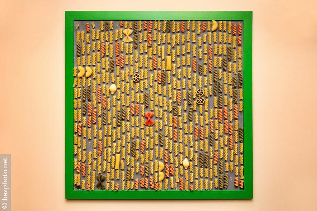 картины из макарон