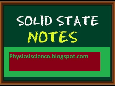 solid state physics notes pdf - <b>Science Physics</b>