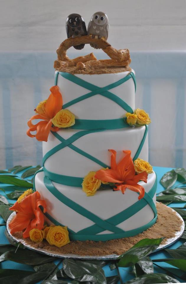 tropical wedding cake toppers the cake zone 21280