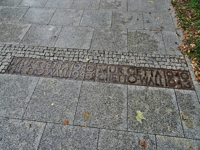 mur getta Warszawskiego centrum miasta