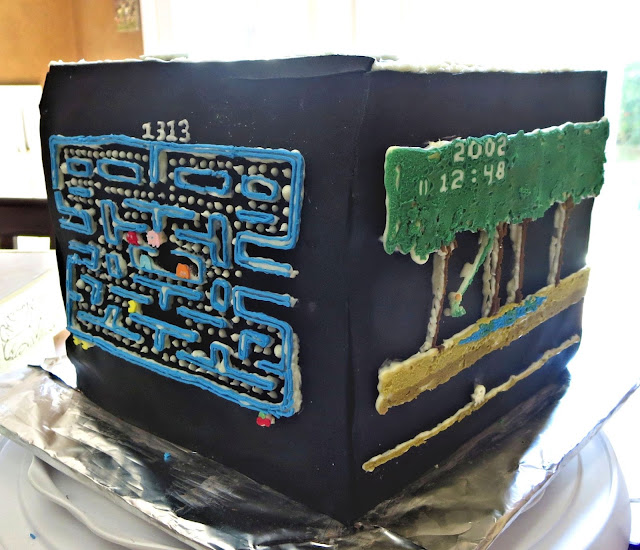 Retro Video Game Cake - Showing Pac-Man and Pitfall Sides