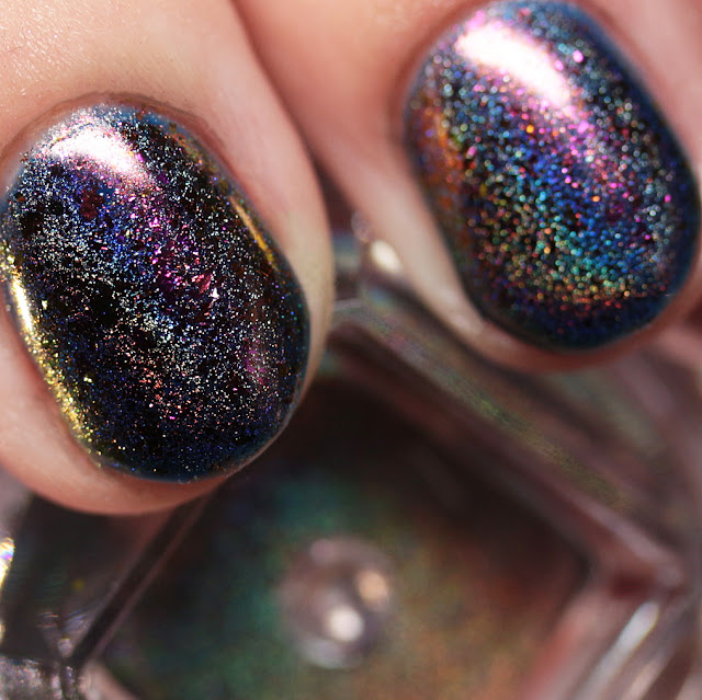 Born Pretty Store Chameleon Holo Flakes Powder 1 over Gel Polish 79