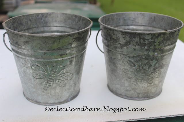 Eclectic Red Barn: Metal Butterfly Pails
