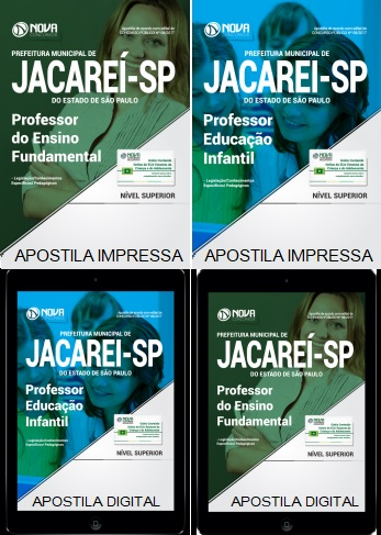 Apostila Prefeitura de Jacareí 2017 - Professor Ensino Fundamental