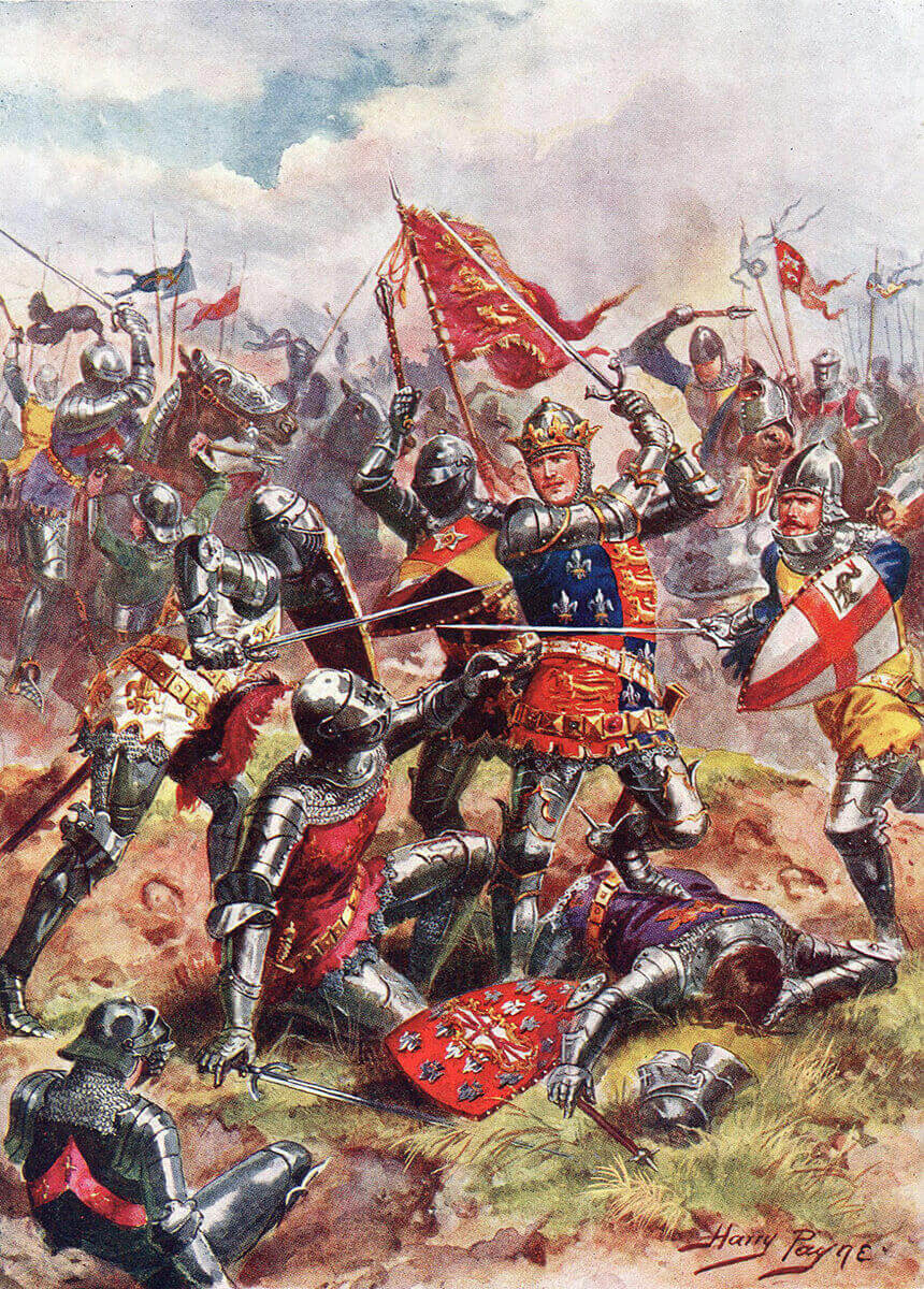 King Henry V at the Battle of Agincourt on 25th October 1415
