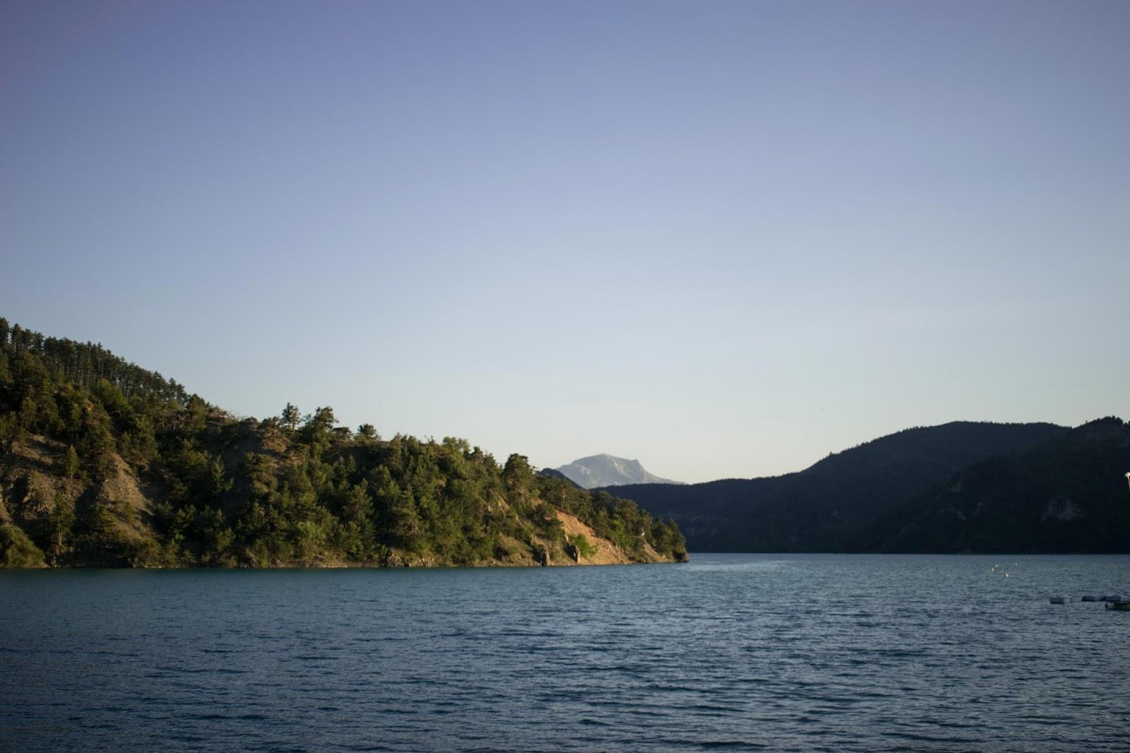 eau, verdure, lac, nature