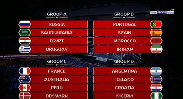 جدول مباريات مصر فى كاس العالم 2018 روسيا موعد وتوقيت أول مباراة لمنتخب مصر في كأس العالم روسيا 2018