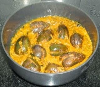 cooked brinjals