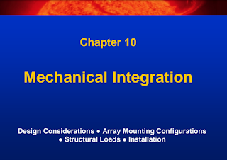 Learn Solar PV Systems:10-Mechanical Integration