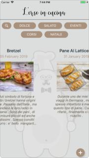 L'app l'Orso in Cucina si aggiorna alla ver 1.3